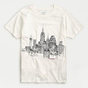 "J.Crew ""NYC"" T-shirt in slub cotton"